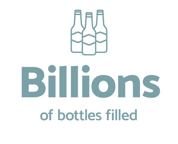 Billions of bottles filled
