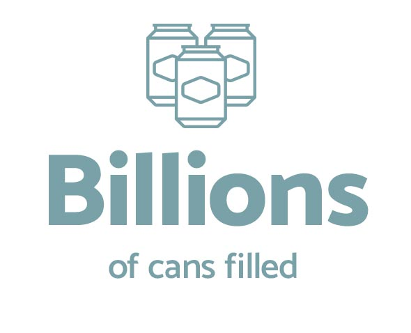 Billions of cans filled