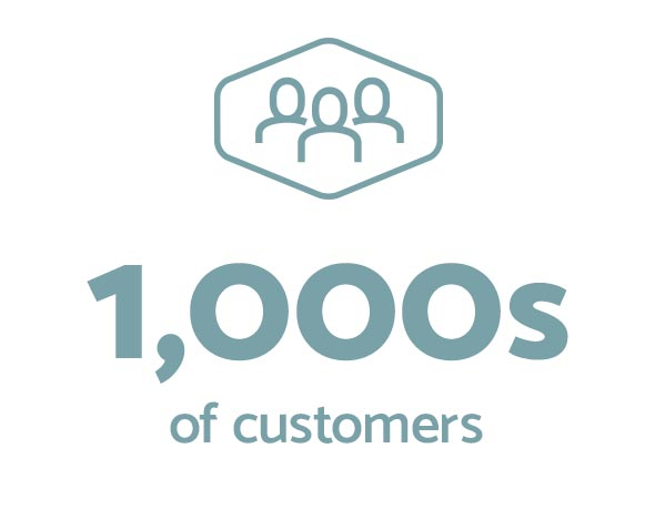 1000s of Customers