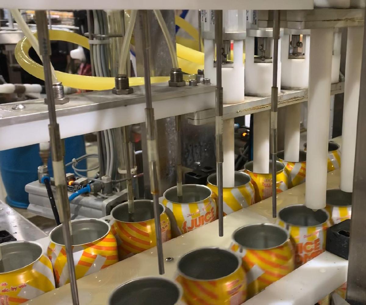 Dual Lane Evolution Series WG8 Canning Line_Filler_Wild Goose Filling