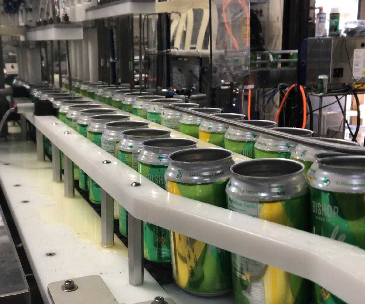 Evolution Series WG10 Canning Line_Canned Cider Filler_Wild Goose Filling