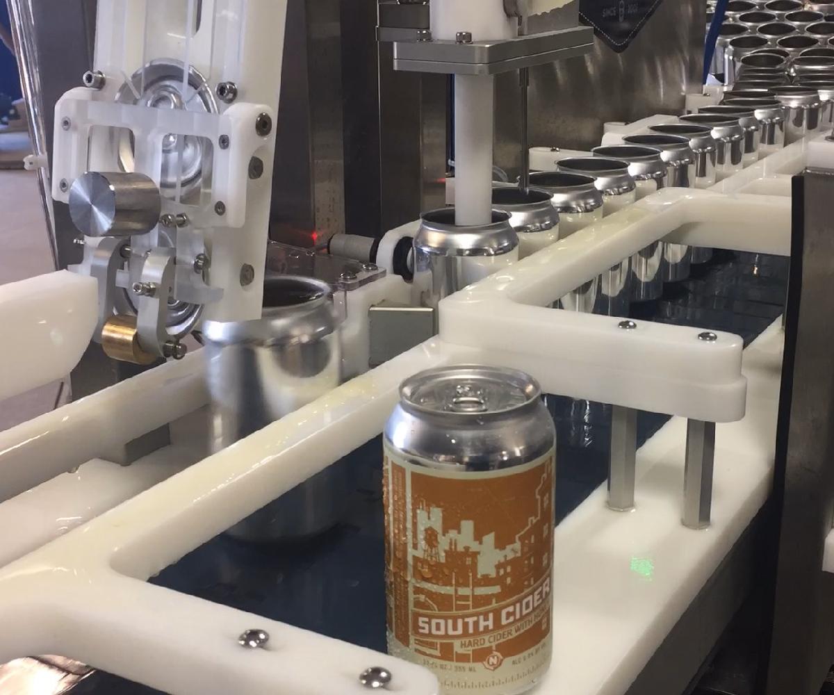 Evolution Series WG1 Canning Line_Canned Cider Filler_Wild Goose Filling