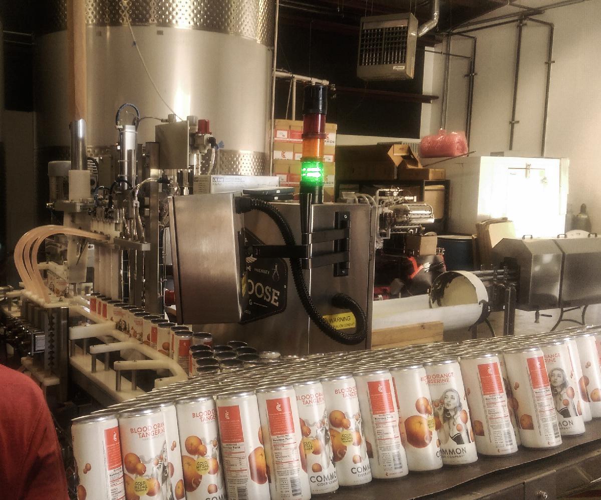 Evolution Series WG5 Canning Line_Canned Cider Sleek Filler_Wild Goose Filling