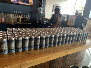 Crowlers Donated to Frontline Workers_Old 121 Brewhouse Filling for the Frontlines