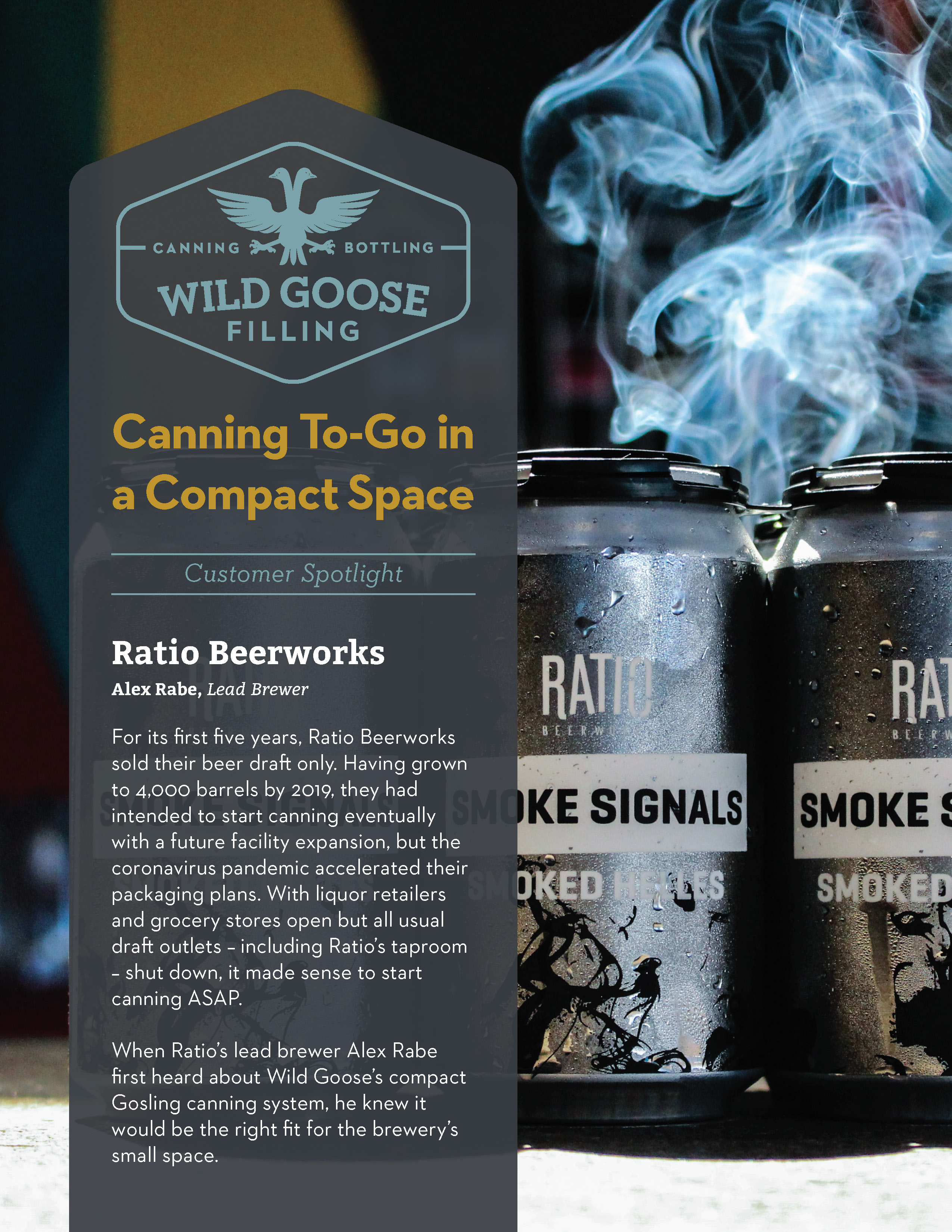 Ratio Beerworks Customer Spotlight Case Study_Canning To-Go with Wild Goose Filling Gosling System