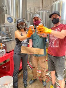 Ratio Beerworks celebrates canning to-go beer on Gosling Canning System by Wild Goose Filling