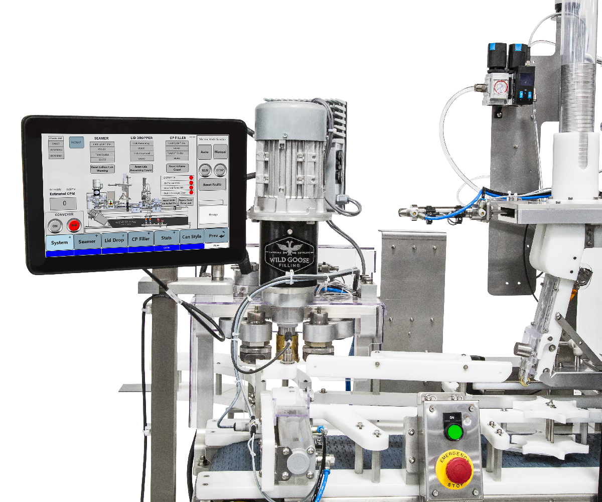 Counter Pressure Canning System_Wild Goose Fusion HMI Operation Screen and Seamer